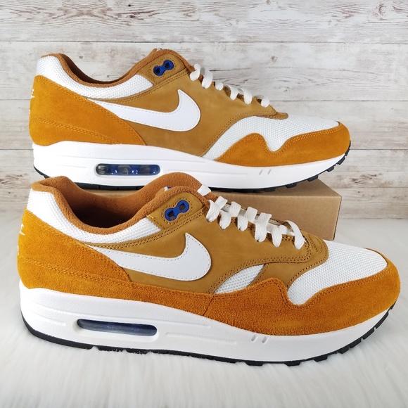 Men's Nike Air Max 1 Premium Retro Curry Sneakers NWT